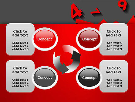 Red Numbers PowerPoint Template Slide 9