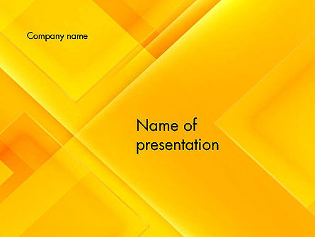 Abstract/Textures: Intersecting Orange Squares PowerPoint Template #13397