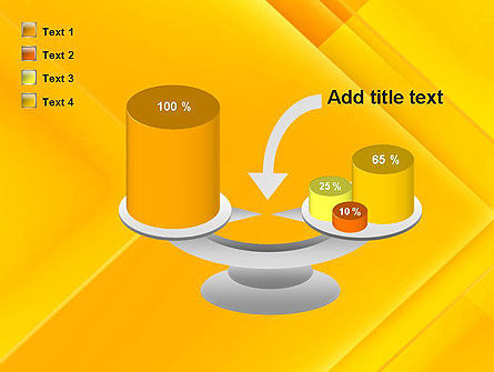 Intersecting Orange Squares PowerPoint Template Slide 10