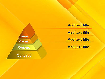 Intersecting Orange Squares PowerPoint Template Slide 12