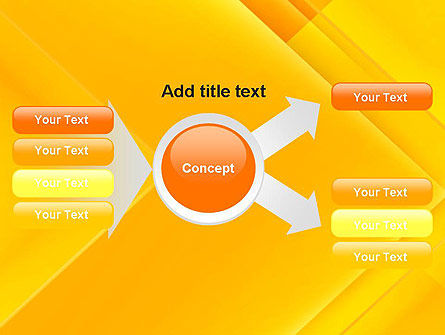 Intersecting Orange Squares PowerPoint Template Slide 14