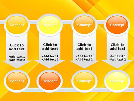 Intersecting Orange Squares PowerPoint Template Slide 18