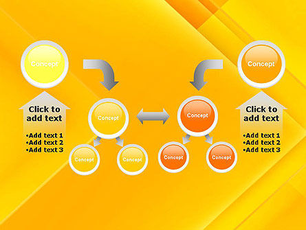 Intersecting Orange Squares PowerPoint Template Slide 19