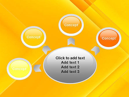 Intersecting Orange Squares PowerPoint Template Slide 7