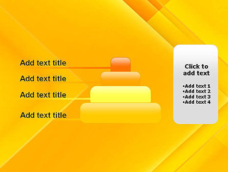 Intersecting Orange Squares PowerPoint Template Slide 8