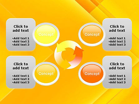 Intersecting Orange Squares PowerPoint Template Slide 9