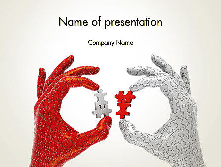 Technology and Science: Putting Puzzle Pieces Together PowerPoint Template #13400