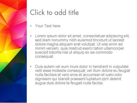 Vivid and Colorful Polygon Abstract PowerPoint Template, Slide 3, 13401, Abstract/Textures — PoweredTemplate.com