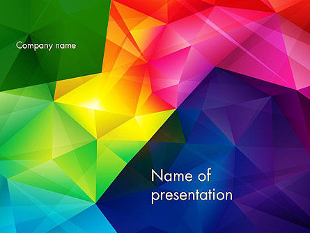 Abstract/Textures: Vivid and Colorful Polygon Abstract PowerPoint Template #13401