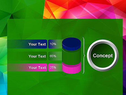 Vivid and Colorful Polygon Abstract PowerPoint Template Slide 11