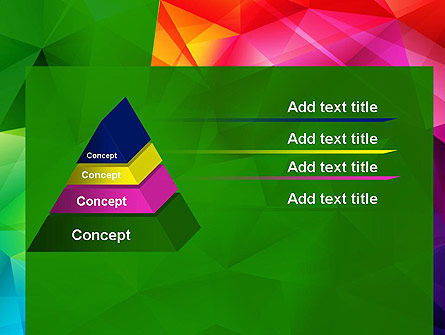 Vivid and Colorful Polygon Abstract PowerPoint Template Slide 12