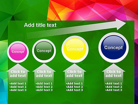 Vivid and Colorful Polygon Abstract PowerPoint Template Slide 13
