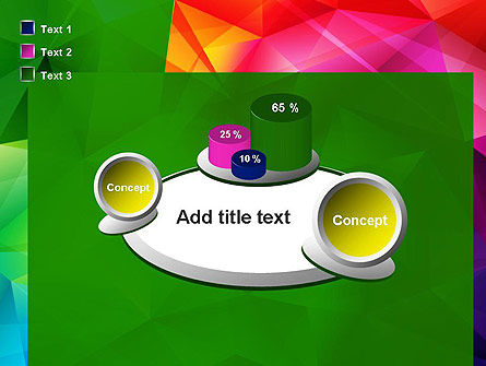 Vivid and Colorful Polygon Abstract PowerPoint Template Slide 16