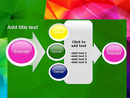 Vivid and Colorful Polygon Abstract PowerPoint Template Slide 17