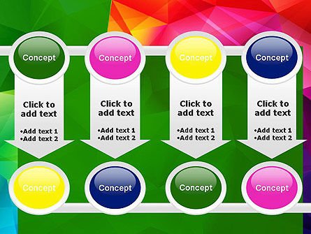 Vivid and Colorful Polygon Abstract PowerPoint Template Slide 18