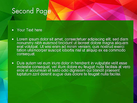 Vivid and Colorful Polygon Abstract PowerPoint Template Slide 2
