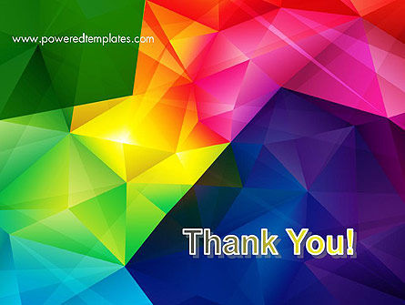 Vivid and Colorful Polygon Abstract PowerPoint Template Slide 20