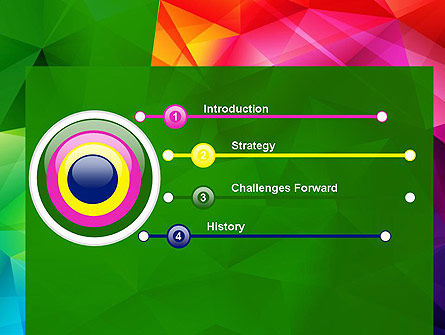 Vivid and Colorful Polygon Abstract PowerPoint Template Slide 3