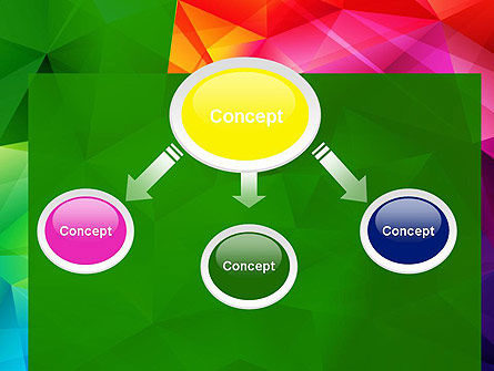 Vivid and Colorful Polygon Abstract PowerPoint Template Slide 4