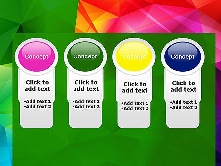 Vivid and Colorful Polygon Abstract PowerPoint Template Slide 5