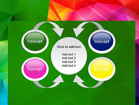 Vivid and Colorful Polygon Abstract PowerPoint Template Slide 6