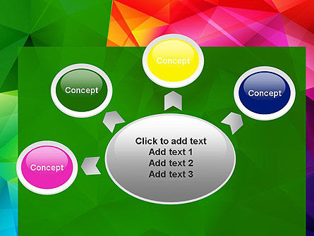 Vivid and Colorful Polygon Abstract PowerPoint Template Slide 7