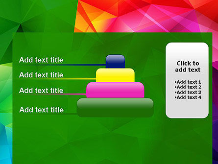 Vivid and Colorful Polygon Abstract PowerPoint Template Slide 8