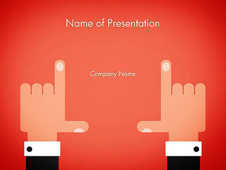 Cropping Hands PowerPoint Template