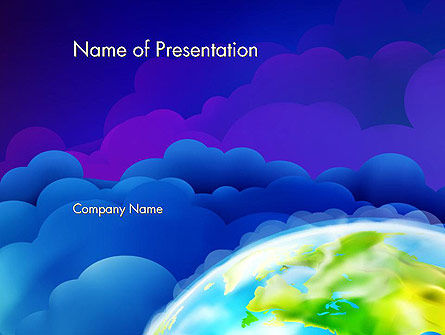 Outer Space Abstract PowerPoint Template, 13403, Global — PoweredTemplate.com