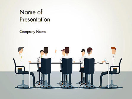People: Working Group Meeting PowerPoint Template #13404