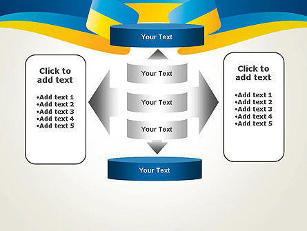 Yellow-Blue Ribbon PowerPoint Template Slide 13