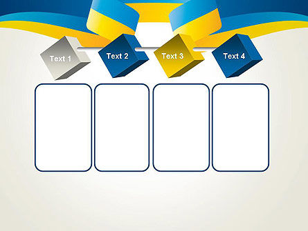 Yellow-Blue Ribbon PowerPoint Template Slide 18