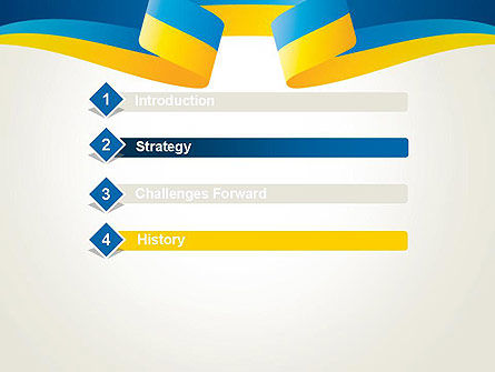 Yellow-Blue Ribbon PowerPoint Template Slide 3
