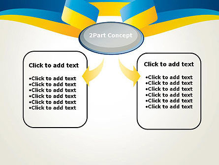 Yellow-Blue Ribbon PowerPoint Template Slide 4