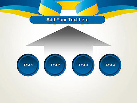 Yellow-Blue Ribbon PowerPoint Template Slide 8