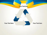 Yellow-Blue Ribbon PowerPoint Template#10