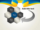 Yellow-Blue Ribbon PowerPoint Template#11