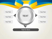 Yellow-Blue Ribbon PowerPoint Template#12