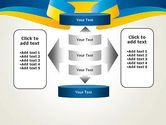 Yellow-Blue Ribbon PowerPoint Template#13