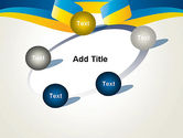 Yellow-Blue Ribbon PowerPoint Template#14