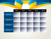 Yellow-Blue Ribbon PowerPoint Template#15