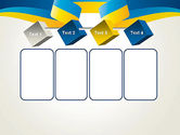 Yellow-Blue Ribbon PowerPoint Template#18