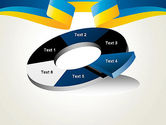 Yellow-Blue Ribbon PowerPoint Template#19