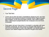 Yellow-Blue Ribbon PowerPoint Template#2