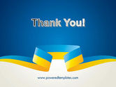 Yellow-Blue Ribbon PowerPoint Template#20