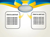 Yellow-Blue Ribbon PowerPoint Template#4