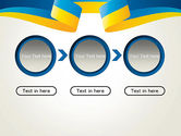 Yellow-Blue Ribbon PowerPoint Template#5