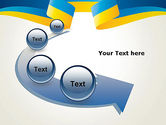Yellow-Blue Ribbon PowerPoint Template#6