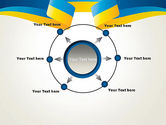 Yellow-Blue Ribbon PowerPoint Template#7