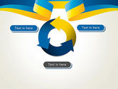 Yellow-Blue Ribbon PowerPoint Template#9